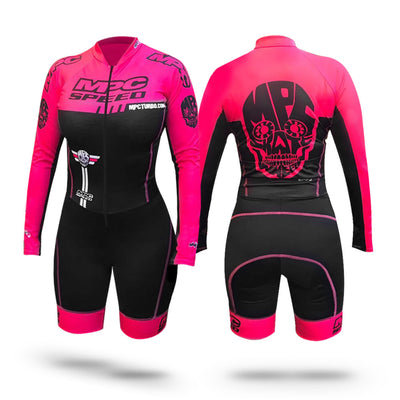 MPC Wheels Calavera Skinsuit Pink by Excel Skinz inline speed skating clothes