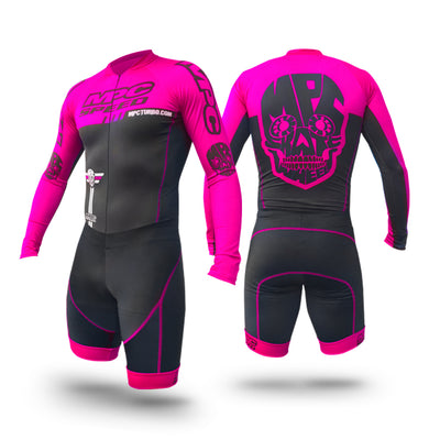 MPC Wheels Calavera Skinsuit Pink by Excel Skinz Inline Speed Skating Apparel