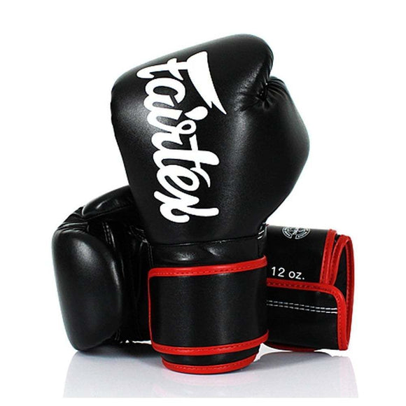 Fairtex Muay Thai Gloves - Black & Red (BGV14)
