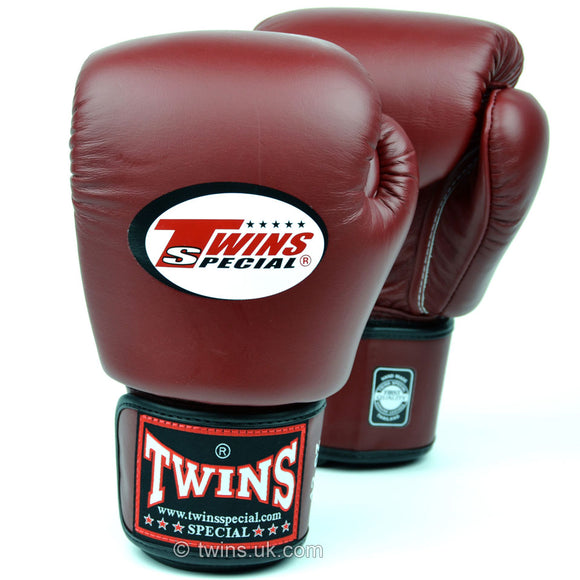 Twins Special Muay Thai Gloves - Burgundy (BGVL3)