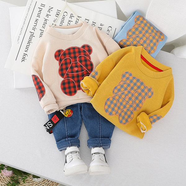 Toddler |Spring| Bear Clothing T-Shirt Jeans Set