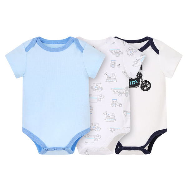 Unisex Baby Cotton Casual Short Sleeve Romper Clothing Set