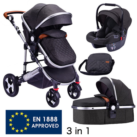 3N1 Folding Portable Baby Stroller with Car Seat