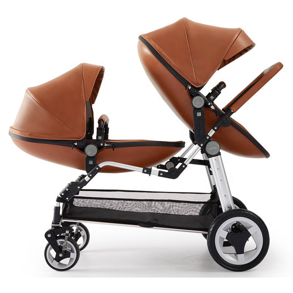 Twin Double Stroller| Lightweight| Folding Baby Carriage Pram