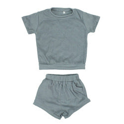 Unisex Cotton Knitted| Two Piece Set| Summer| Romper