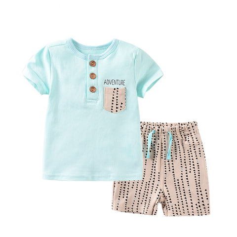 Baby Boy Short Sleeve Summer Two piece Set