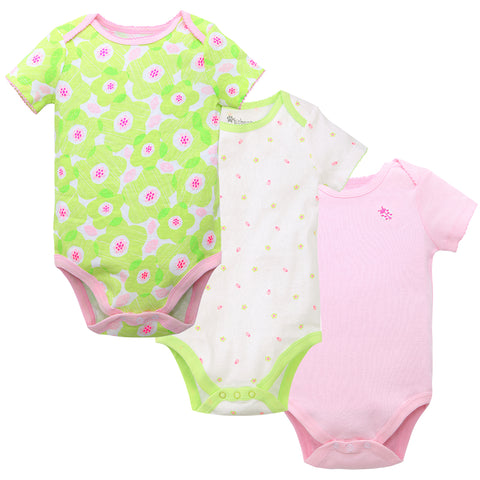 2020 Factory Direct Hotsale Newborn 100% Cotton Cute Print Picot Summer Girls Clothing Sets Baby Baby Clothes Clothing