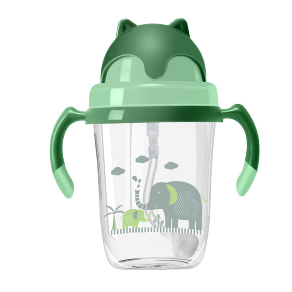 BPA Free Tritan Material Children Kids Water Bottle Straw Baby Sippy Cup Baby Water Feeding Milk Bottle With Straw