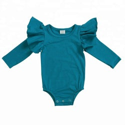Long Sleeve Baby Girl Bodysuit Romper