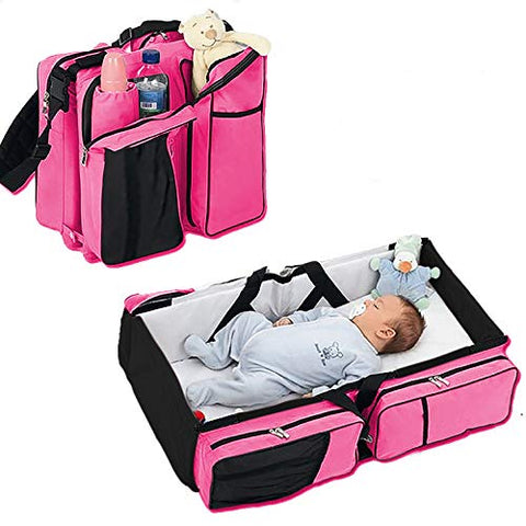 3 in 1 Portable Infant Baby Bassinet Diaper Bag +Changing Station