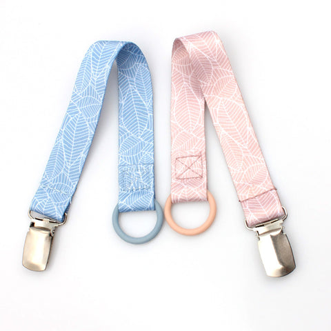 Baby pacifier holder metal clip