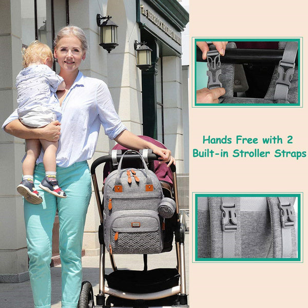 New portable folding crib diaper bag with bassinet