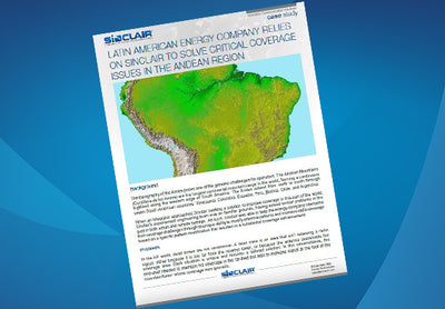 Case Study: Latin American Energy Company Relies On Sinclair To Solve Critical Coverage Issues In The Andean Region