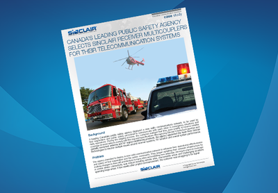 Case Study: Canada's Leading Public Safety Agency Selects Sinclair Receiver Multicouplers For Their Telecommunication Systems