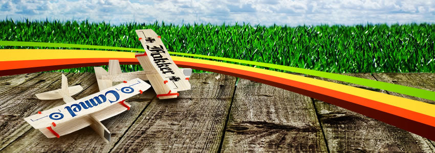 Twin Balsa Wood Model Airplanes