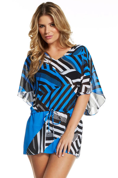 Drop Hip V-Neck Tunic with Drawstring