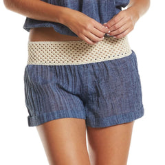 Shorts Cuff with Crochet Band
