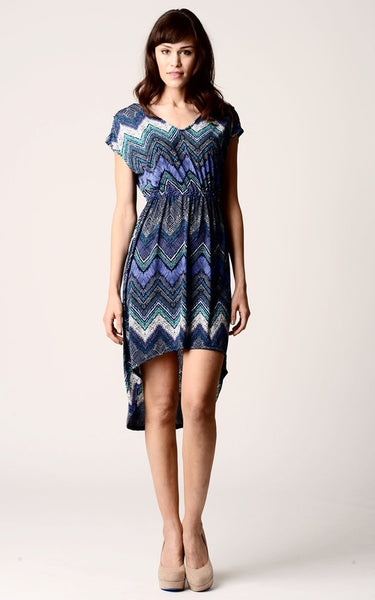 Women's Printed Hi-Low Dress