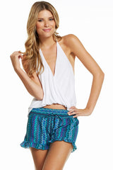 Shorts with Smock Waistband & Ruffle bottom