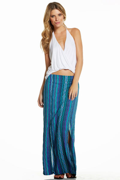 Skirt Maxi Elastic Waistband with 2 slits in front