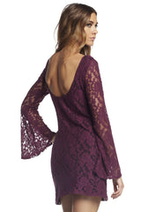 Lace Mini Dress with Scoop Back