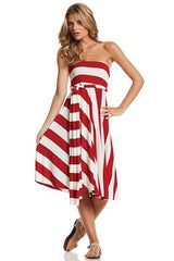 Convertible Dress/Skirt Wide Stripe