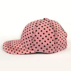 Polka Dot Pink, Women's Golf Hat / Women's Pink Baseball Cap