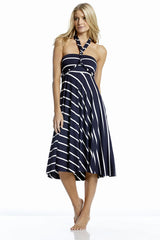 Convertible Dress/Skirt Navy Stripe