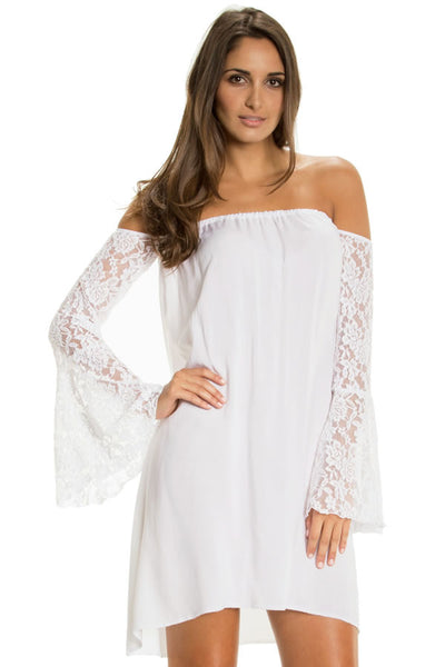 Dress Flair Lace Sleeve