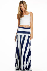 Convertible Maxi Dress/Skirt Wide Stripe