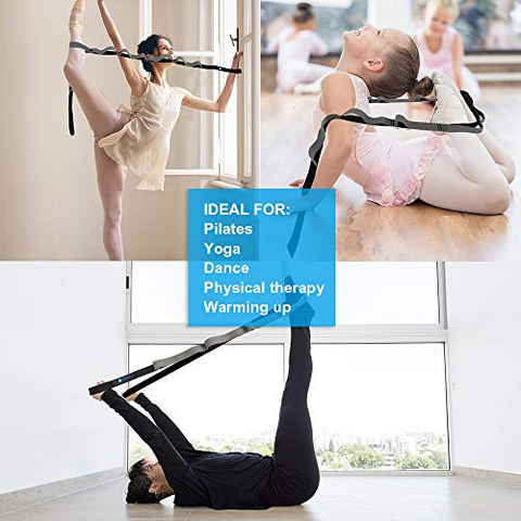 Stretch Strap with 11 Loops for Yoga