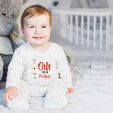 Load image into Gallery viewer, OM For The Holidays Baby short Sleeve Onesie