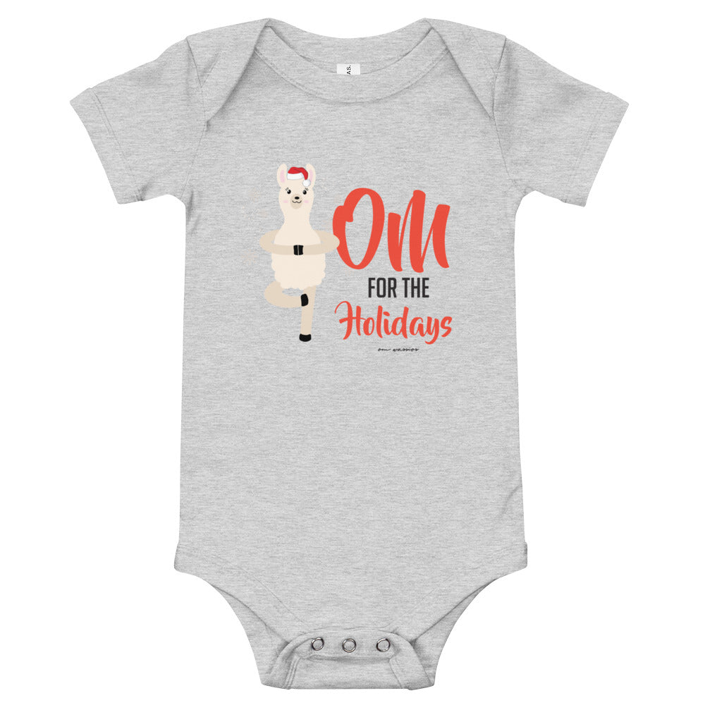 OM For The Holidays Baby short Sleeve Onesie