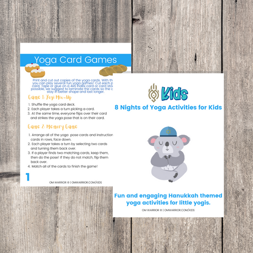 Whether you are a parent practicing yoga with your child, an educator, or a kids yoga teacher, this is a wonderful resource for children to build their own yoga and mindfulness practice. Use these cards as warm-up activities, brain breaks, a transition between activities, or simply as a fun and engaging Hanukkah-themed yoga and mindfulness activities.