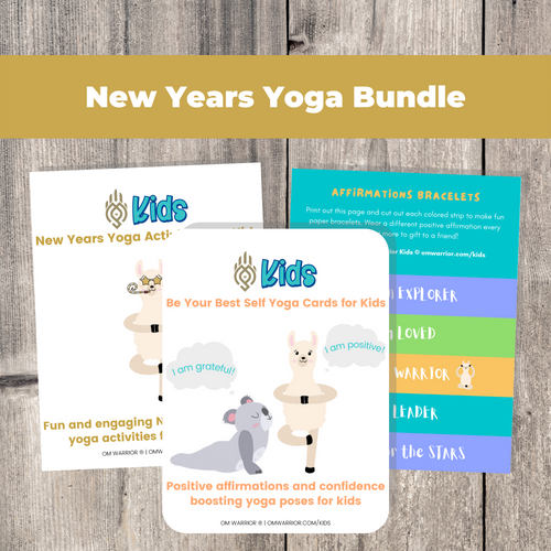 Whether you are a parent practicing yoga with your child, an educator, or a kids yoga teacher, this is a wonderful resource for children to build their own yoga and mindfulness practice. Use these cards as warm-up activities, brain breaks, a transition between activities, or simply as a fun and engaging New Years themed yoga and mindfulness activities.