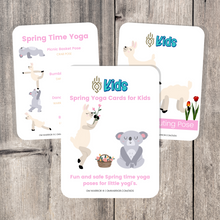 Load image into Gallery viewer, Whether you are a parent practicing yoga with your child, an educator, or a kids yoga teacher, this is a wonderful resource for children to build their own yoga and mindfulness practice. Use these cards as warm-up activities, brain breaks, a transition between activities, or simply as a fun and easy yoga sequence.