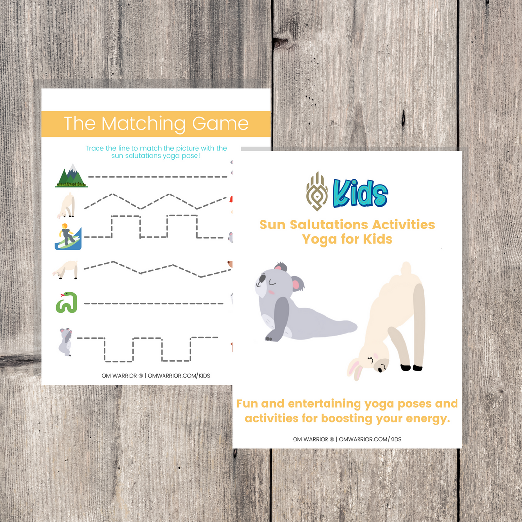 Sun Salutations Yoga Cards and Activities for Kids