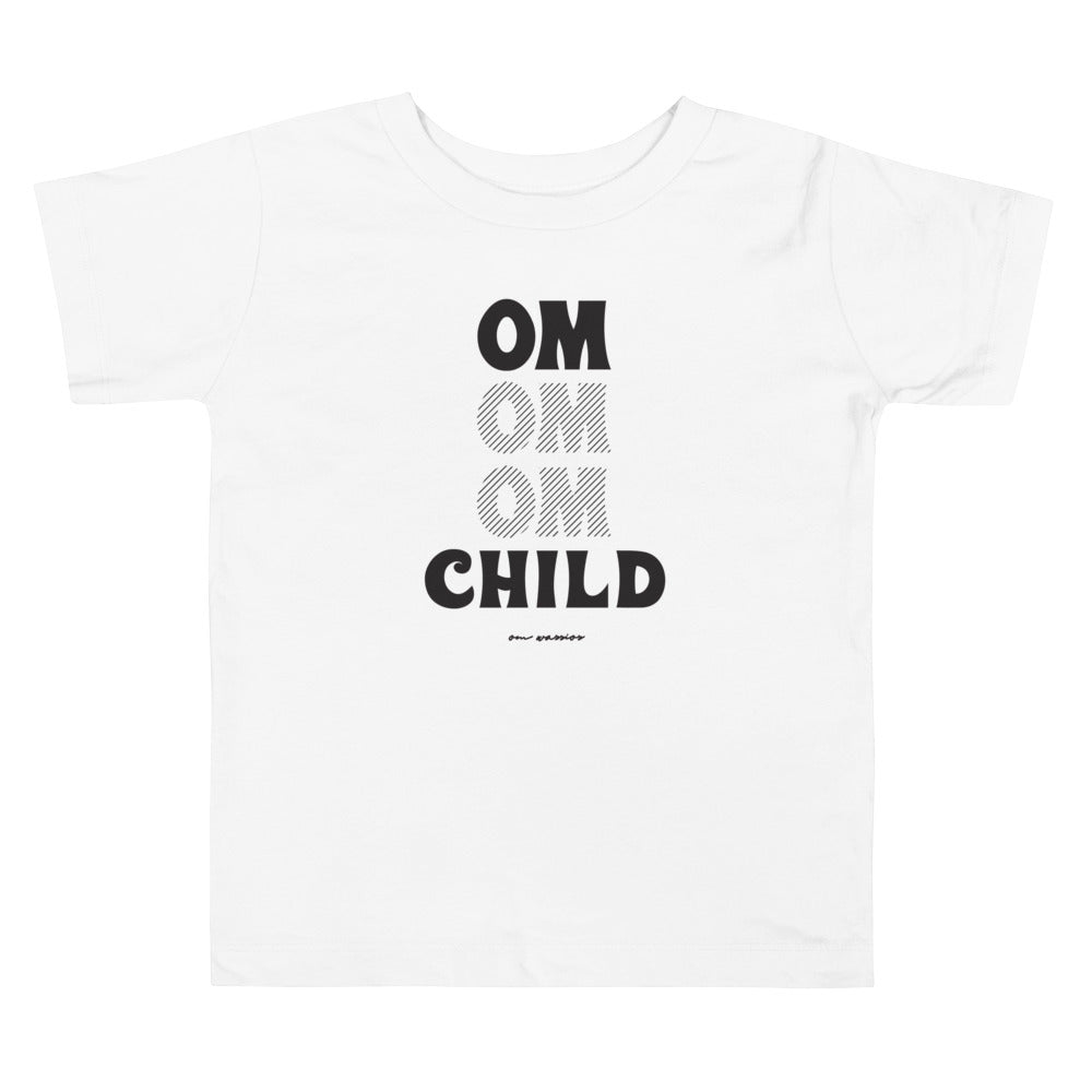 OM Child Toddler Short Sleeve Tee (Color White) - This tee is for the little yogi warriors in your life. This toddler short sleeve t-shirt features ultra-soft 100% combed and ring-spun cotton, our classic