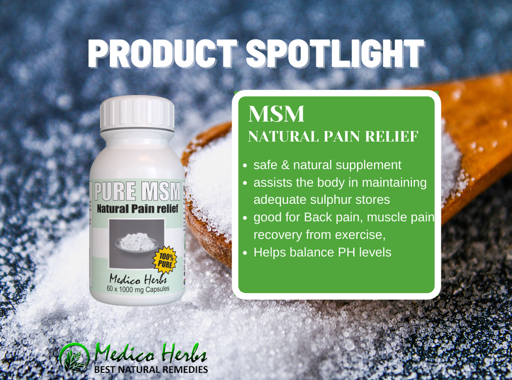 Product Review - Pure Distilled MSM Pain relief Capsules 60 x 1000mg.