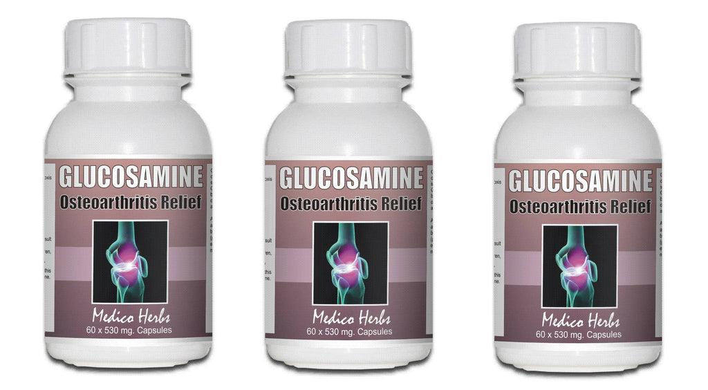 Glucosamine Sulphate 3 BOTTLES SPECIAL PRICE 180 CAPSULES