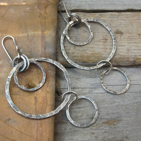 Bubbles Earrings ~ Oxidized