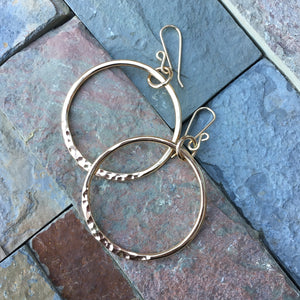 Ring of Fire Earrings ~ Goldfilled