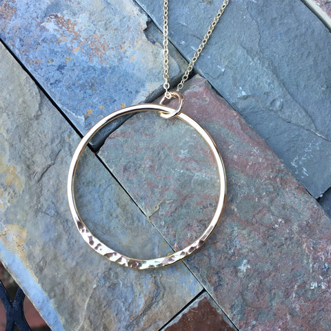 Ring of Fire Necklace ~ Goldfilled
