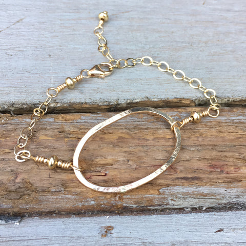 Riverstone Bracelet ~ Goldfilled
