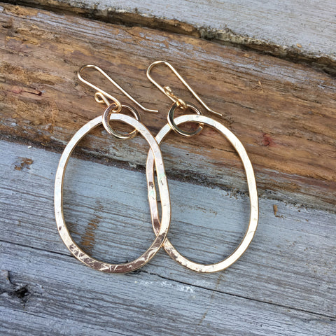 Riverstone Earrings ~ Large Goldfilled