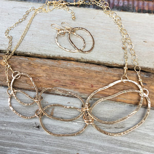 Riverstone Double Layer Necklace ~ Goldfilled