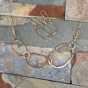Riverstone Trio Necklace ~ 14kt Goldfilled
