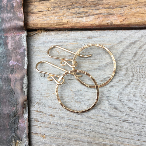 Circle Earrings ~ Goldfilled