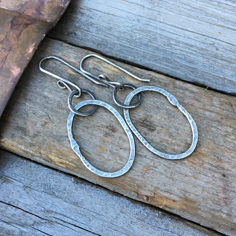 Riverstone Earrings ~ Oxidized