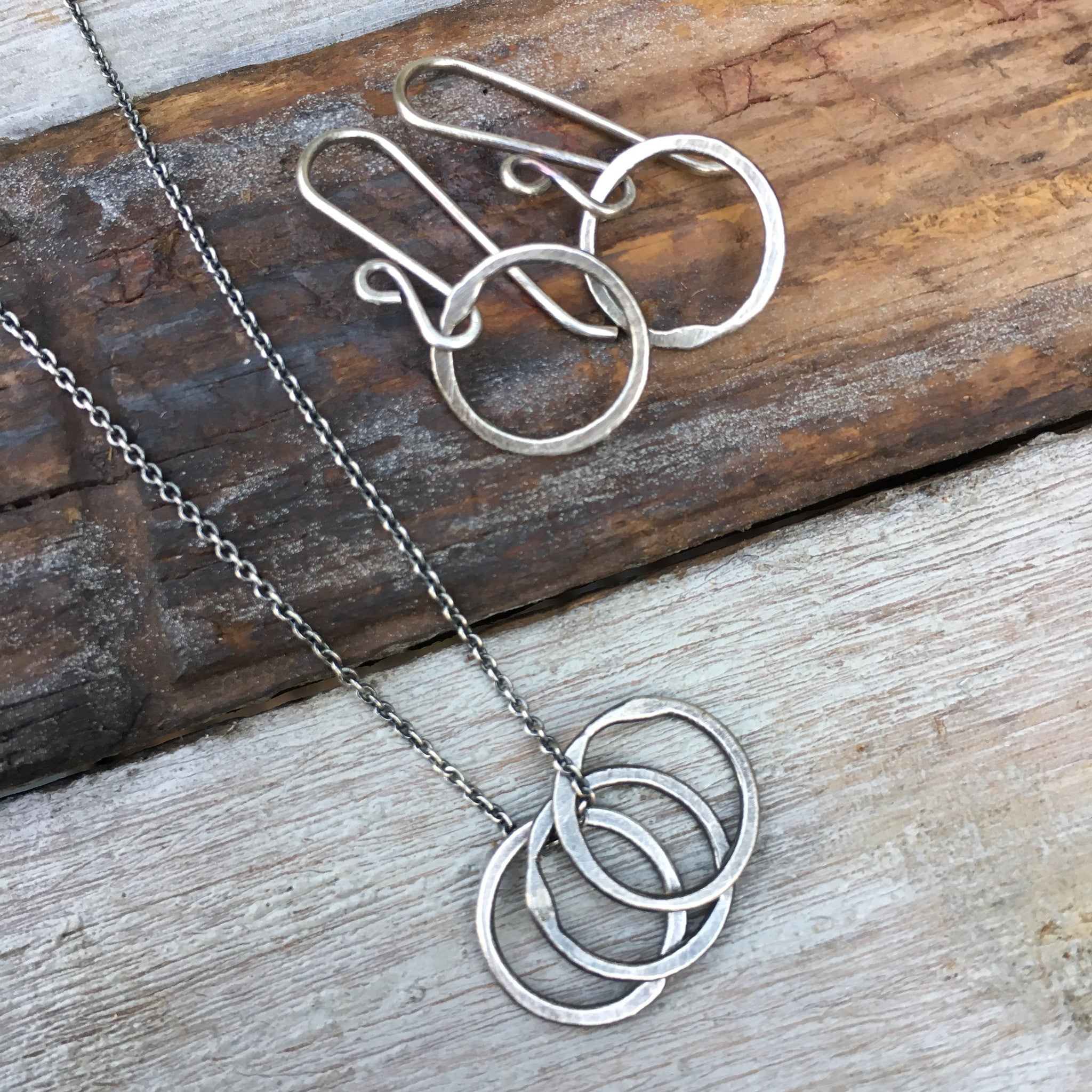 Tiny Trio Necklace ~ Oxidized – Jules Artwear